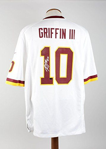 Autographed Robert Griffin III Jersey   Inscribed  10 White Grades 9 10  Autographed NFL Jerseys -- For more information, visit image link.