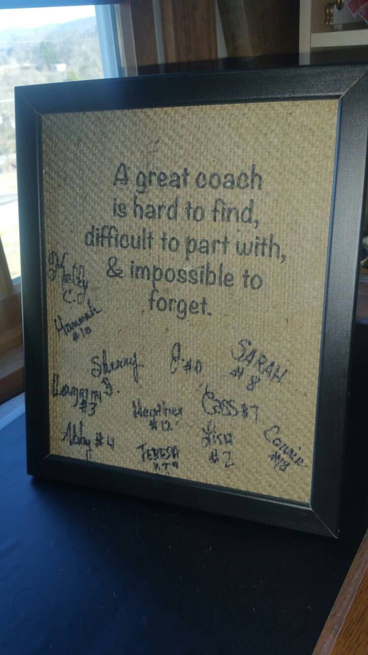 A personal favorite from my Etsy shop https://www.etsy.com/listing/499804762/coach-giftpersonalized-coach-giftunique