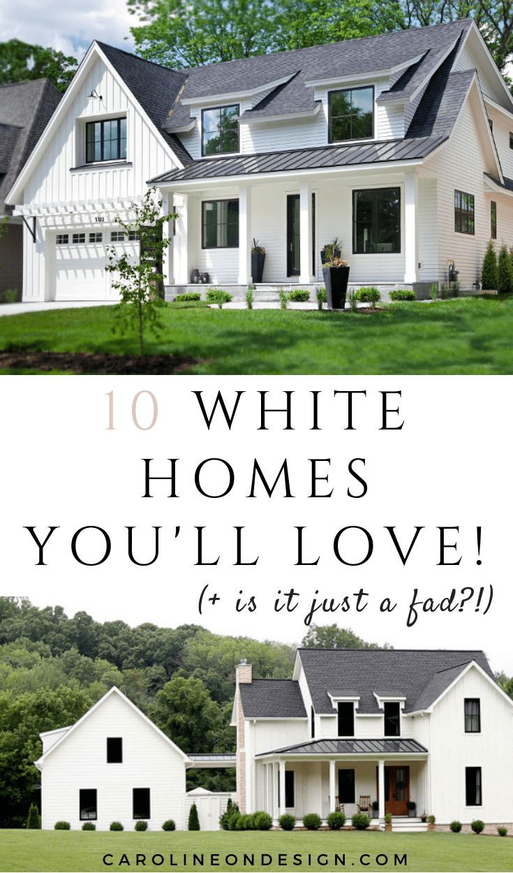 Home Exteriors: 10 White Home Exterior Ideas You'll Swoon Over