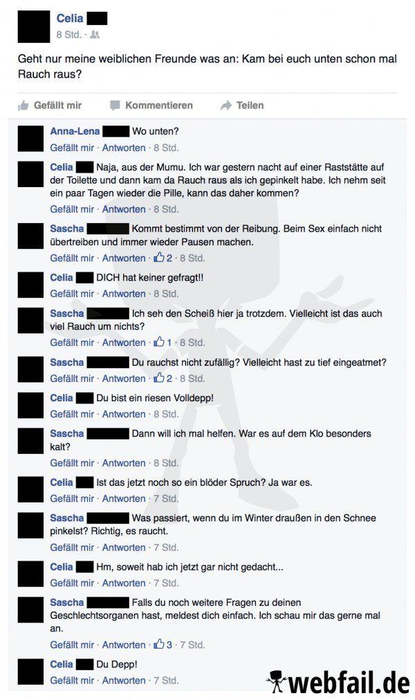 In der scheinbaren Anonymität der Facebook-Freunde fallen einem gewisse Fragen doch leichter. Ist Sascha der neue Dr. Sommer?