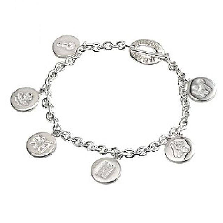 History of Ireland Charm Bracelet