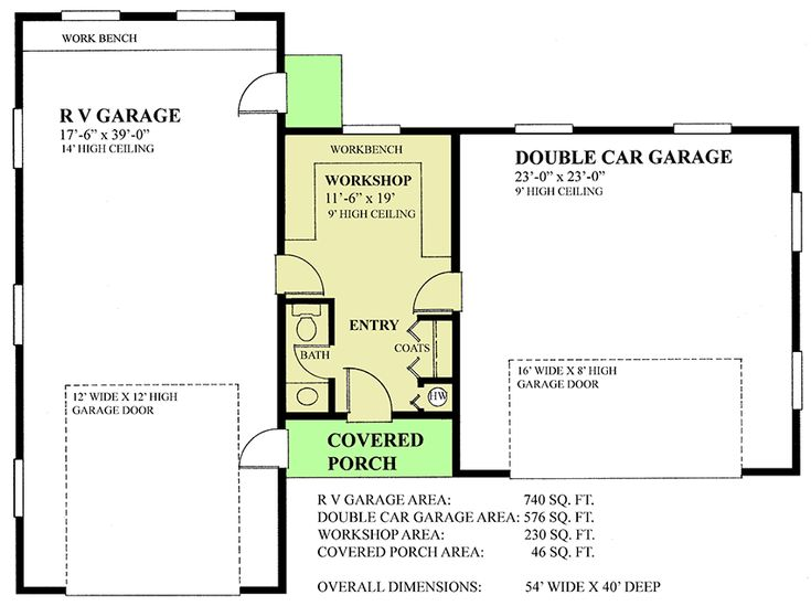Rv Garage With Metal Roof 9826sw: Plan 9826SW: RV Garage With Metal Roof