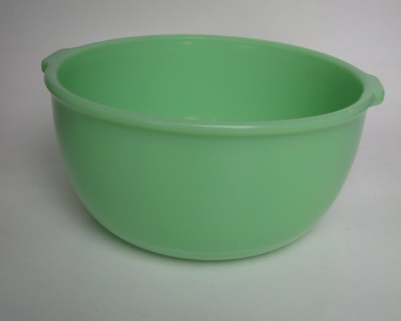 Vintage Sunbeam Mixer Jadeite Mixing Bowl by KitchieKu on Etsy, $35.00