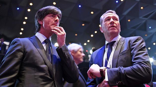 Gespannt auf die EM: Bundestrainer Joachim Löw (li.) und DFB-Torwarttrainer Andreas Köpke