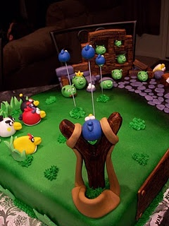 angry bird sling shot in fondant: Birds Party, Angrybirds Theme, Bird Cakes, Cake Ideas, Angry Birds Cake, Birthday Idea, Birds Game, Birthday Cake, Party Ideas