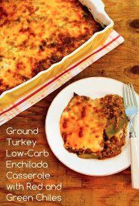 Ground Turkey Enchilada Casserole | FaveHealthyRecipes.com