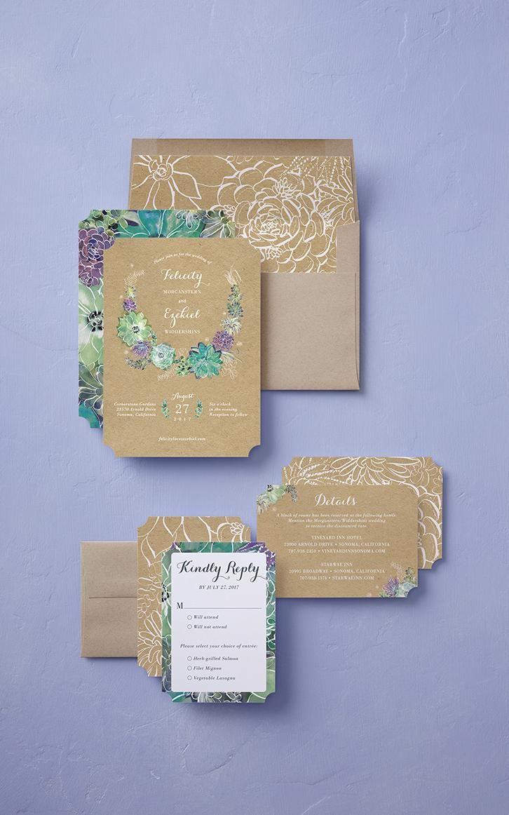 Splendid Succulent Stationery Card by Petite Alma