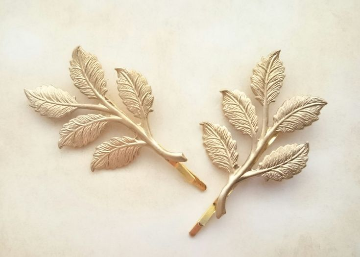 Gold Leaf Branch Bobby Pins Leaf Branch Hair Clips Grecian Hair Bridal Hair Spring by OLIVIABRUN on Etsy https://www.etsy.com/listing/229614600/gold-leaf-branch-bobby-pins-leaf-branch