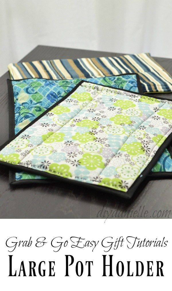 Video tutorial: Oversized hot pads for casserole dishes                                                                                                                                                                                 More