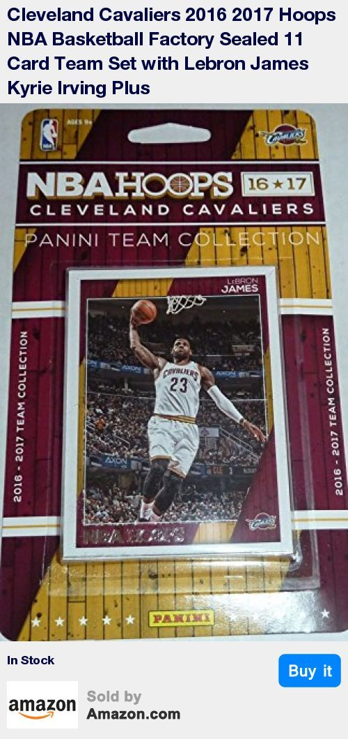 "This is a brand new 2016 / 2017 Cleveland Cavaliers Hoops Basketball Factory Sealed NBA Licensed 11 Card Team Set including LeBron James, Kyrie Irving, Kevin Love, Mike Dunleavy, Tristan Thompson, Channing Frye, Iman Shumpert, Richard Jefferson, Mo Williams, Chris Andersen and a rookie card of Kay Felder. * Looking for other Cleveland Cavaliers Team Sets and individual Player Cards? Please search for ""Cavaliers"" in our Amazon storefront to see all related listings! * Please Note: As describe"