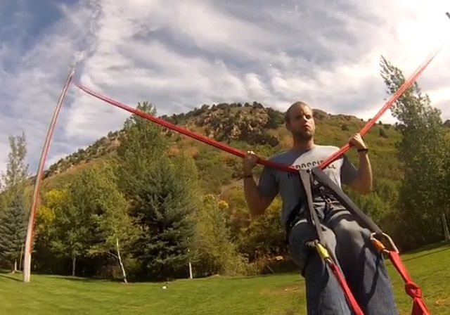 Human slingshot | Check out the video..