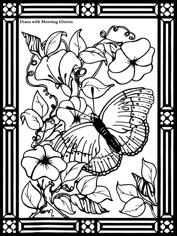 26 best Coloring pages to print - Chinese Kites Stained Glass ...