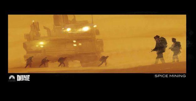 Jock's Concept Art for Unmade DUNE film: Spice Mining