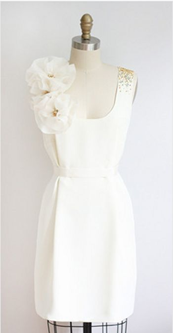 Dolly Pearl short wedding dress, this would be cute for the rehearsal