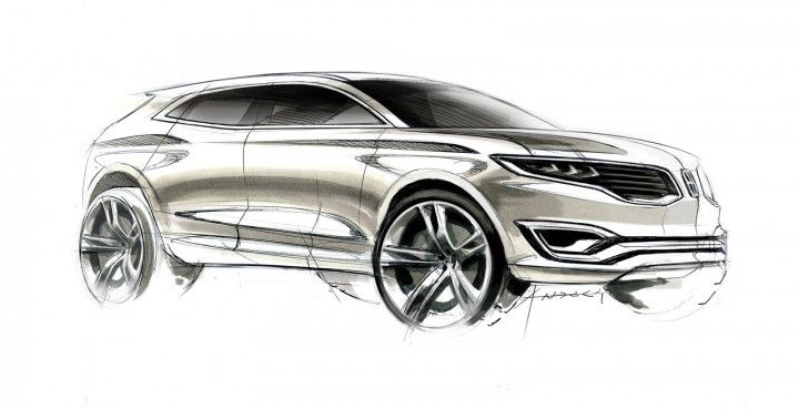 Lincoln MKX Concept - Pen and markers Design Sketch by Andrea di Buduo