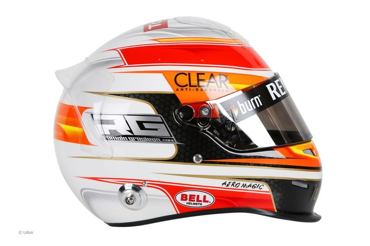 Romain Grosjean 2013 - Image rights and ownership are of the Lotus F1 Team and courtesy of F1 site F1 Fanatic