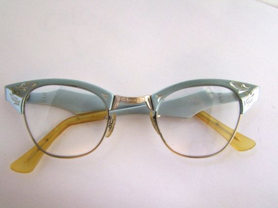 1950s Women's  Eyeglasses // 50s Vintage Cats Eye by ifoundgallery