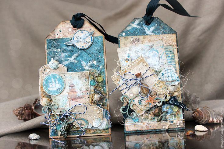 Купить Новогодняя открытка - тэг - голубой, новогодний, тег, подарок, на новый год, открытка, подарок девушке