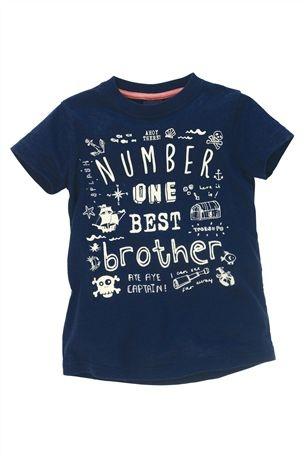 Navy Brother T-Shirt (3mths-6yrs)