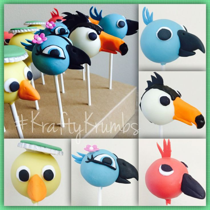 Rio themed Cake Pops