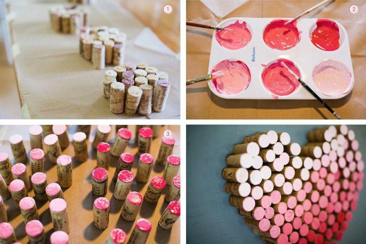 Idea decorativa creata con i tappi di sughero - DIY decorative idea made with cork • #DIY #decor #cork #recycle