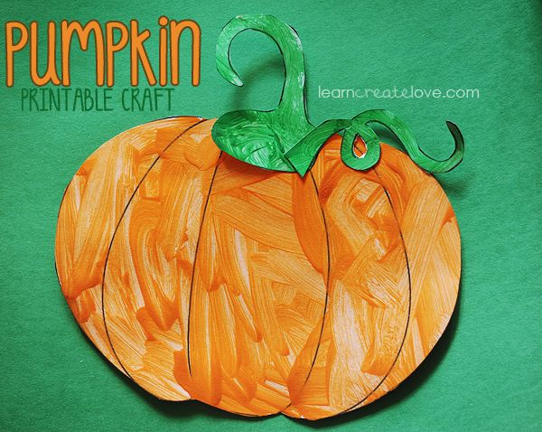 Printable Pumpkin Craft Lots More Crafts On This Site