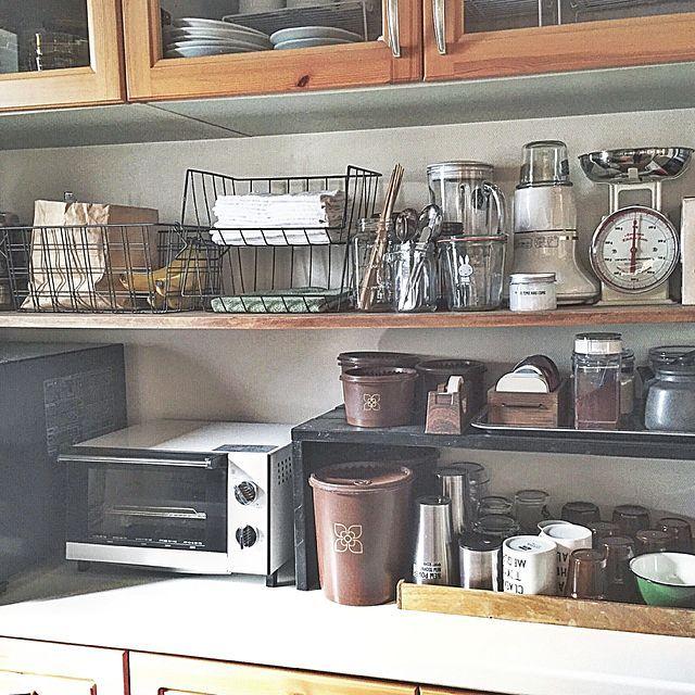 女性で、の食器棚/DIY/セリア/収納/男前/塩系インテリアの会…などについてのインテリア実例を紹介。(この写真は 2016-04-20 18:39:27 に共有されました)