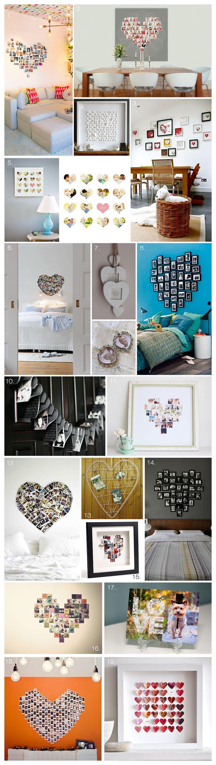 Heart Shaped Photo Wall Displays | Akemi Photography    #MemoriesOnDisplay #PhotoWall #PhotoDisplay