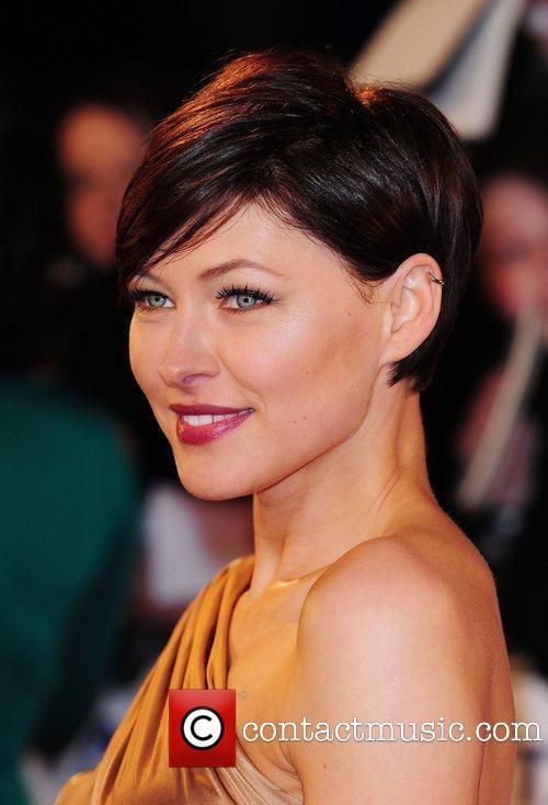 Emma Willis looking very elegant in short hair.