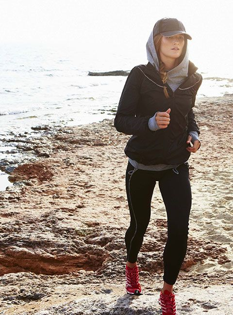 Sweaty Betty #woman #exercise #focused #training #sport #fashion #apparel #beach #sea