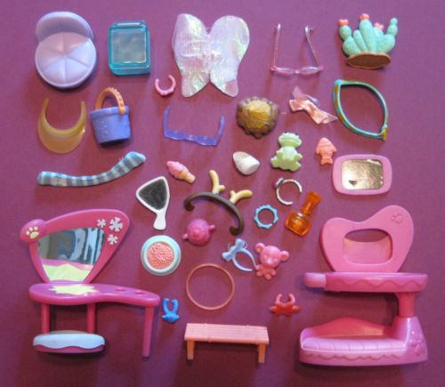 Littlest Pet Shop Huge Lot 30 Pieces of LPS Accessories 14 | eBay