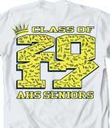 IZA DESIGN senior class shirts.  Class of 2017 Senior Class T Shirt Design- Crown Collegiate desn-485c4.  Specializing in custom senior class tshirts since 1987!