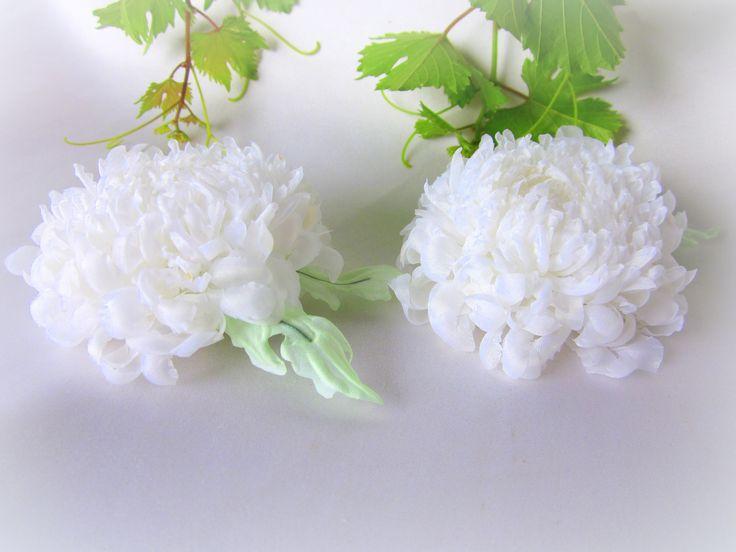 белоснежные хризантемки