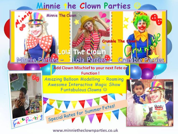 Best Images About Clown Parties On Pinterest Children - Childrens birthday party entertainers london