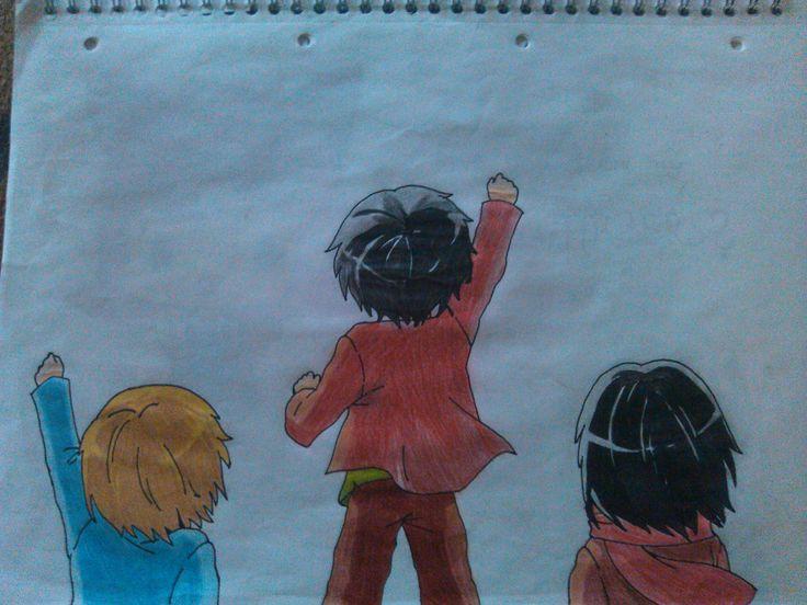 Attack on Titan - Armin, Eren, Mikasa