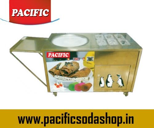 Fried Ice Cream Machine: We manufacture powerful machine which reduces waiting time and it becomes easy and fast to operate.
