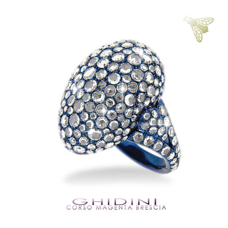 anelli in titanio e diamanti rose cut #ghidinigioielli #brescia #bresciacentro #diamonds #italy #fashion #style