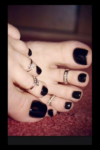 Will know, sexy girls with black toenail polish