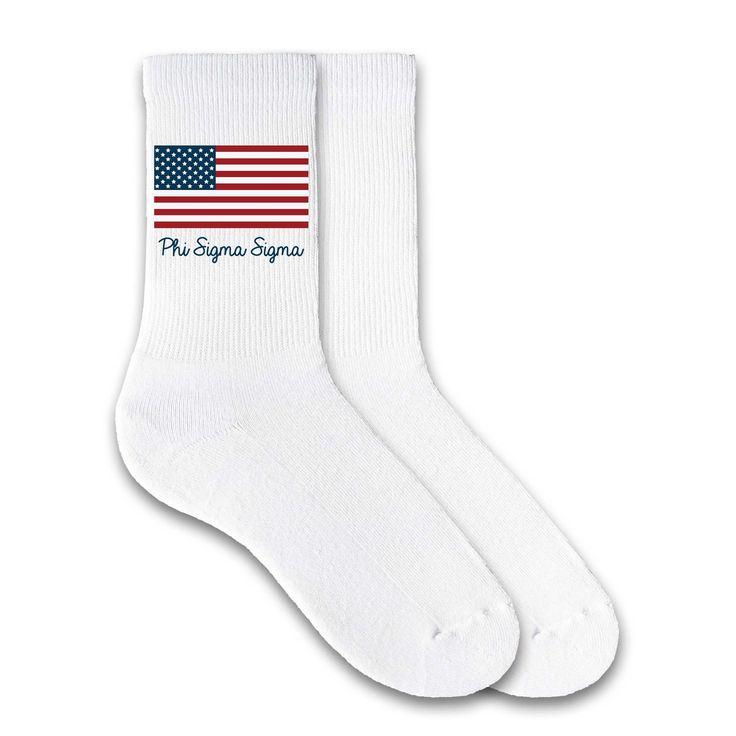 Phi Sigma Sigma USA Flag Sorority Letters