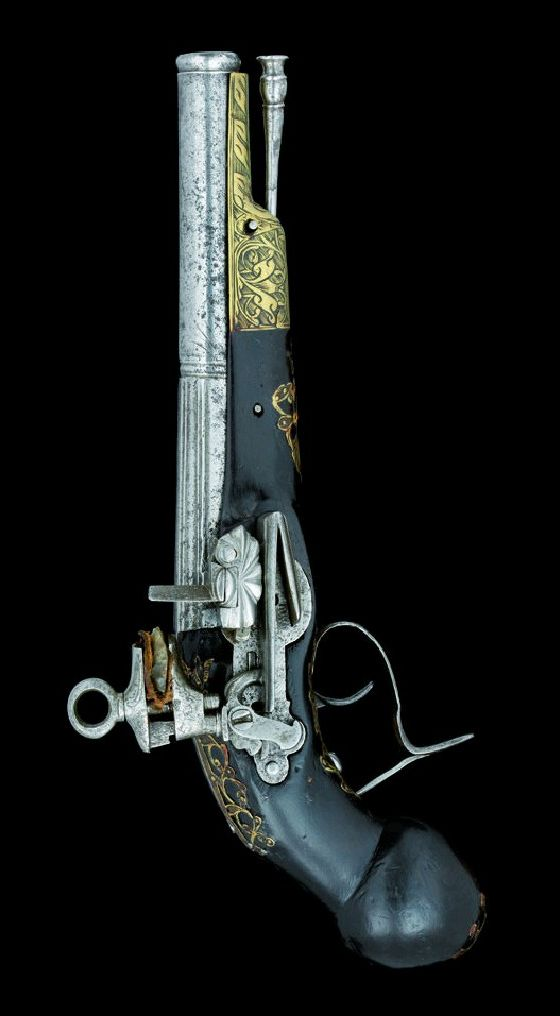 A SPANISH MIQUELET-LOCK PISTOL, RIPOLL, EARLY 18TH CENTURY.