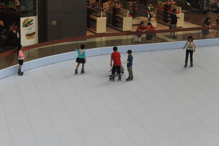 Skating in a Singapore Shopping Mall