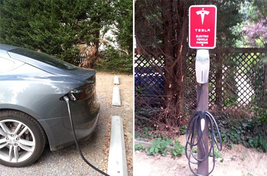 Tesla Charging Station at the Albemarle Inn, Asheville, NC