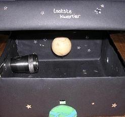 Oma gaat de ruimte in - hoe maak  je een maankijkdoos?