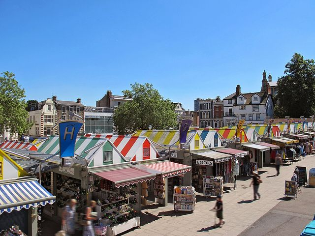 Norwich Market - #blueskies #colour #LYLM2013
