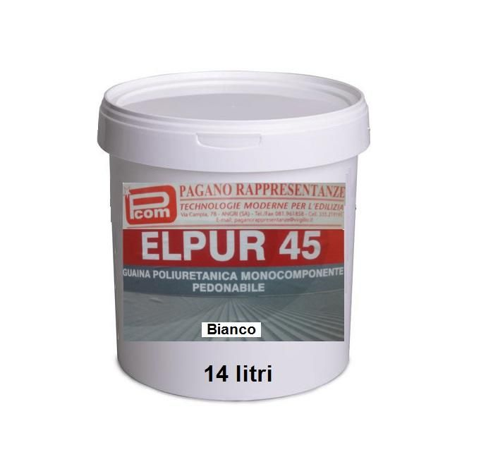 Guaina liquida impermeabilizzante poliuretanica all'acqua calpestabile bianco