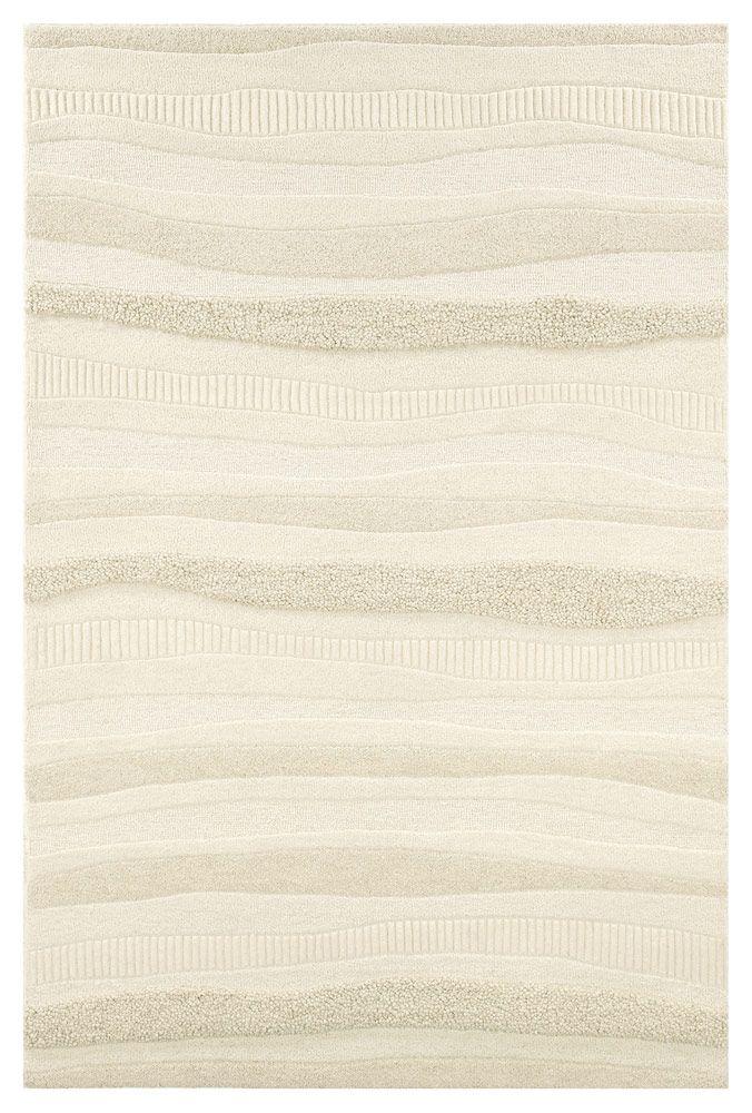 modernrugs.com Super Indo Natural Impressions Stripe White Modern Rug