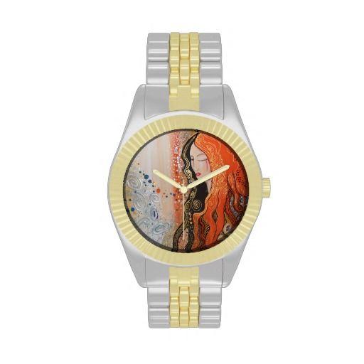 Ginger Lady Elegant Watch Art Nouveau gold silver