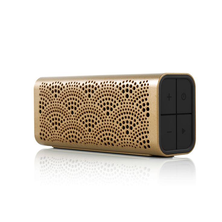 BRAVEN LUX Portable Wireless Bluetooth Speaker Gold -Main