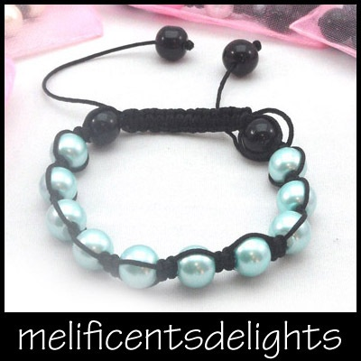 petite / childrens pearlised shamballa beaded bracelet kids £4.99 free shipping