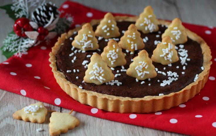 Χριστουγεννιάτικη τάρτα σοκολάτας
